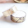 WASHI TAPE 15/15mm set of 2 - LACEY Valentine's Day + gold