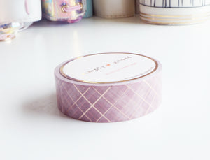 French countryside PLAID washi  (Lavender fields) - 15mm