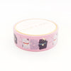 WASHI 15mm - LUCKY CATS pink + Lt. gold (Mystery Monday)