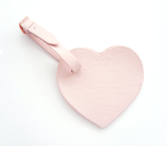 MYSTERY ITEM - First Class - Vegan Leather heart shaped LUGGAGE TAG