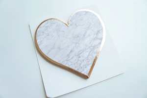 STICKY NOTES - MARBLE HEART + rose gold foil