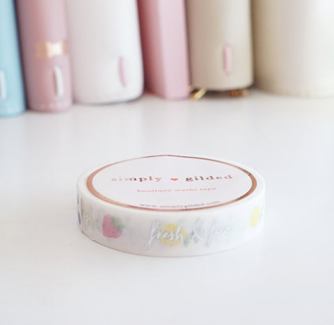 WASHI TAPE 10mm - Simplicity FRUIT WORDS (Mystery Monday)