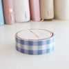 WASHI TAPE 15mm - Simplicity Blue and White Gingham (Mystery Monday)