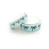 WASHI 15/10mm - MARSHMALLOW Mint + Black Bow