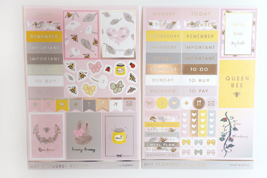 LUXE STICKER set MAY FLOWERS luxe stickers and SB03 mini sheet (May Flowers)