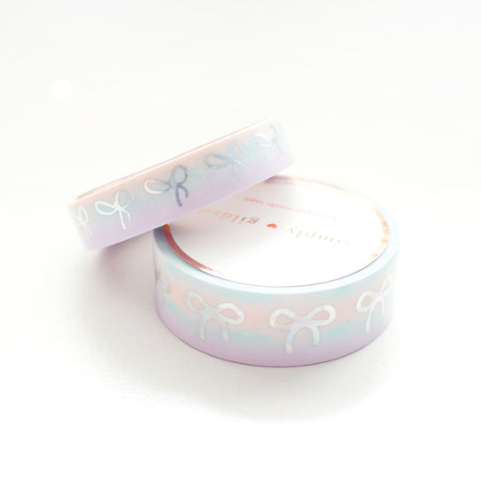 WASHI 15/10mm BOW set - Mermaid Dreams BOW Variation Ombre + sparkler silver holo (Mystery Monday)