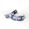 WASHI 15/10mm BOWS set - MIDNIGHT NOIR GEM + white bows