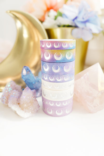 BUNDLE WASHI 15/10mm - Moon ROCK set - 4 sets / 8 washi - LIMIT OF 1