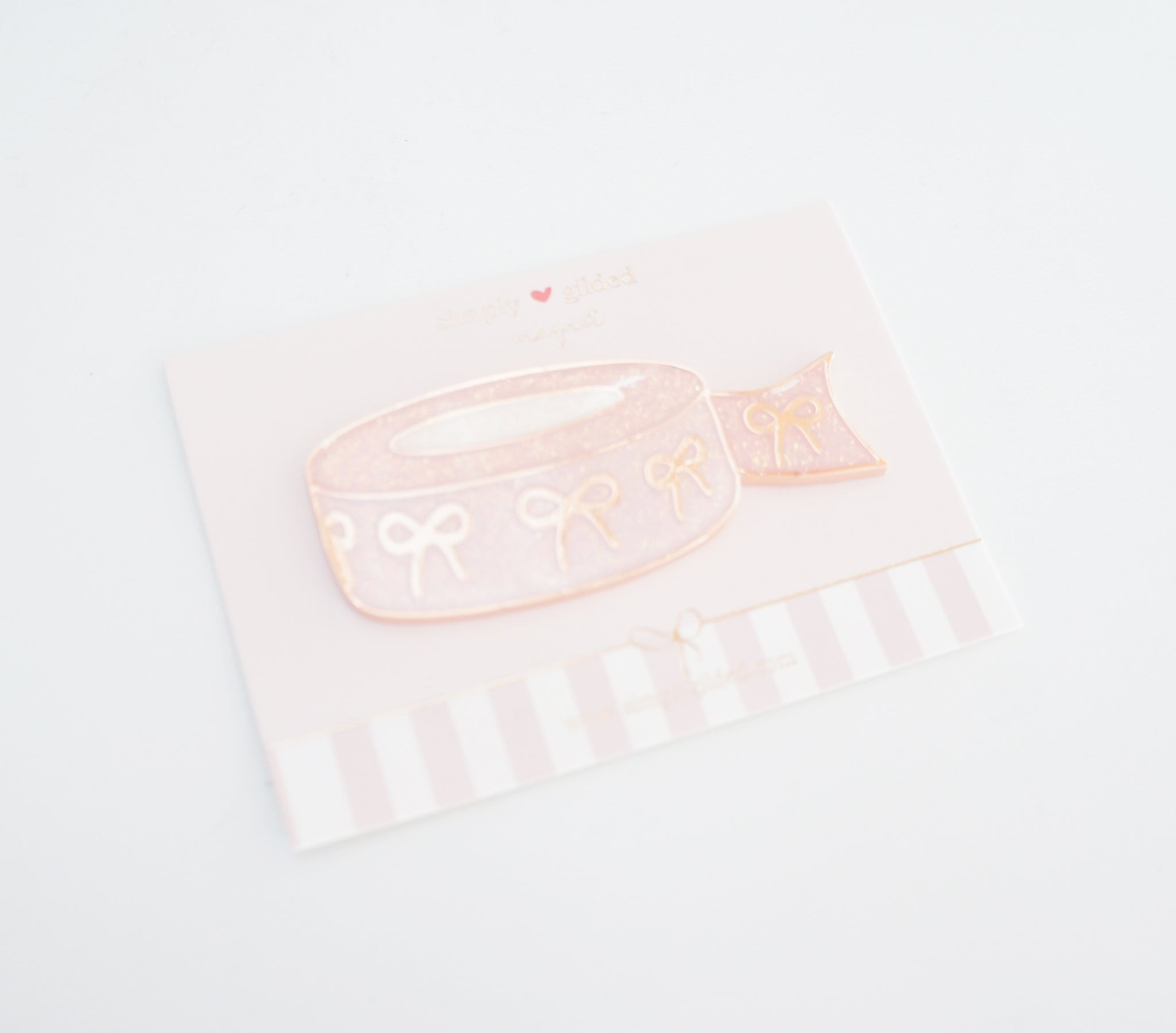 Day 4 - MAGNET - PINK glitter bow washi (Mystery Box)