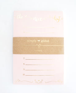 NOTEPAD - THE NICE LIST + light gold foil (Mystery Monday)