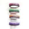 WASHI 5mm set of 2 - NEON SKULLS/BLACK + you pick color