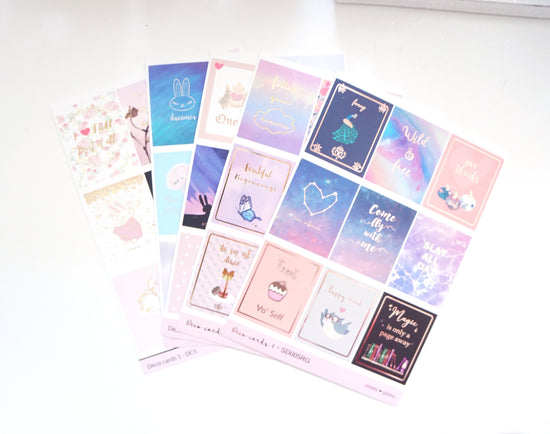 LUXE DECO STICKER set - SWEET CELEBRATION Full Box Stickers  + silver holographic/lt. gold/rose gold foil (Sweet Celebration)