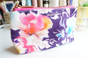 Canvas FLORAL POUCH ONLY - (Floral Fantasy)