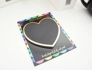 STICKY NOTES - FOLKTALE Heart Shaped + gold (Mystery Monday)