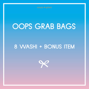 OOPS GRAB BAGS- sold AS IS - 8 washi tapes plus bonus item