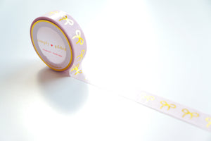 ORIGINAL pink bow + hot gold foil washi tape - (EASTER release)