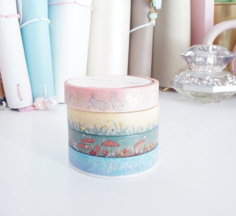 BOX SET 10mm - PIGEON PAPER CO washi tape collaboration set (Pink box)