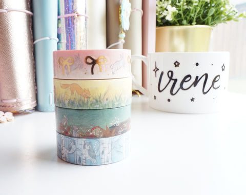 STANDARD 15mm - Pigeon Paper Co washi tape collaboration - 15mm SET -  (BLUE box)