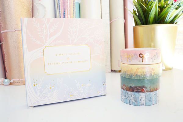 BOX SET 15mm - PIGEON PAPER CO washi tape collaboration  (BLUE box)
