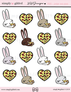 PX05 Juniper xoxo PIZZA sticker sheet