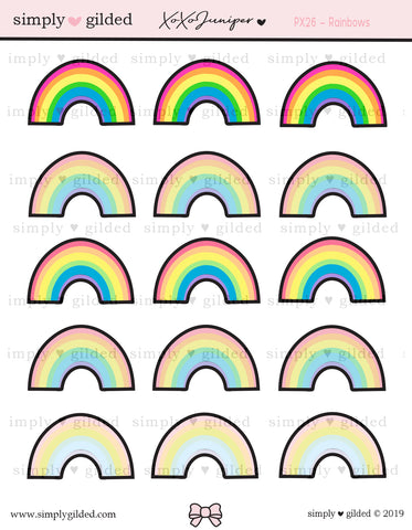 PX26 RAINBOW sticker sheet