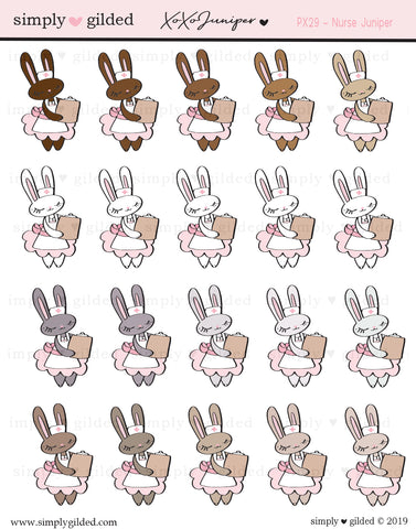 PX29 xoxoJuniper NURSE sticker sheet