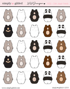 PX32 Juniper xoxo CHIBI JASPER FRIENDS sticker sheet
