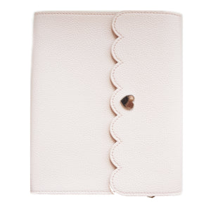 ALBUM - LARGE Pale Pink Pebble Album + silver hardware