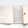 LARGE ALBUM - Pale Pink Pebble Album + silver hardware