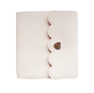 ALBUM - MINI Pale Pink Pebble album + silver hardware