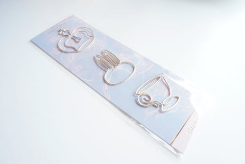 PAPERCLIPS - Royal Tea gold paperclip TRIO (Mystery Monday)