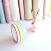 MINI SET 5mm PASTEL VERTICAL BOW - PINK/YELLOW/MINT/BLUE + holographic foil (Last Chance)