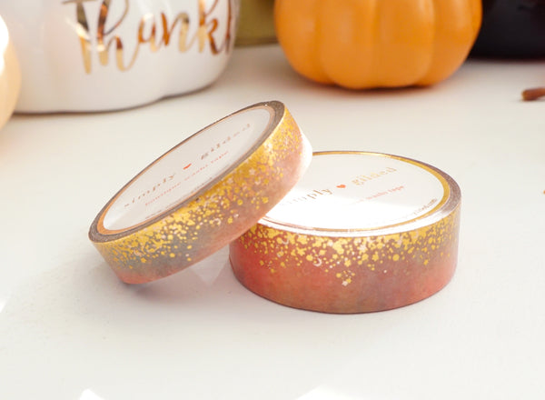 WASHI TAPE 15/10mm set PEACH TREE STARDUST + gold holographic/rose gold foil (October 2019 Release)
