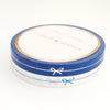 PERFORATED WASHI TAPE 6mm set of 2 - DEEP BLUE & white BOW LINE + silver/blue foil