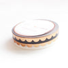 PERFORATED WASHI TAPE 6mm set of 2 - black & white SCALLOP + ROSE GOLD foil