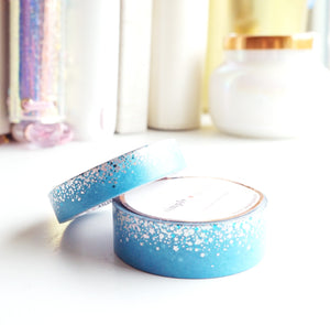 WASHI TAPE 15/10mm set - Pool Blue STARDUST + Holo/Blue (Mystery Monday)