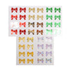 BUNDLE SEALS - Puffy Bow - red / green / light gold / gold holo bokeh / silver holo bokeh