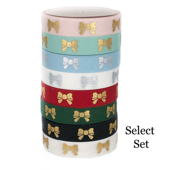 WASHI - PUFFY BOW + Glitter - you pick set