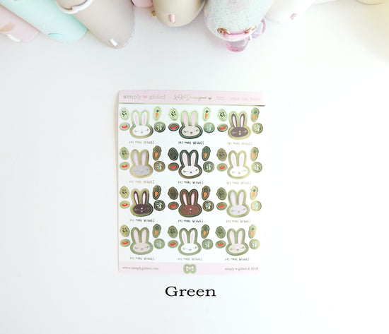 PX20 Juniper xoxo GREENS sticker sheet