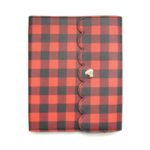 LARGE STICKER BOOK - Buffalo Plaid + light gold hardware