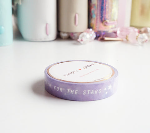 WASHI TAPE 10mm -  Rock Stars WORDS (Mystery Monday)