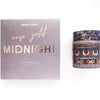 Box set of 4 washi tapes - Midnight GALAXY 13.0 + rose gold foil