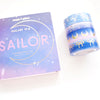 Box set of 4 washi tapes - SAILOR Galaxy 14.0 + lt gold foil