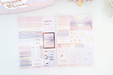 LUXE STICKER SHEET- Sakura Bloom (Mystery Monday)