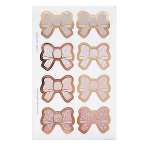 SEALS - Blushbaby Leopard Bow + rose gold foil