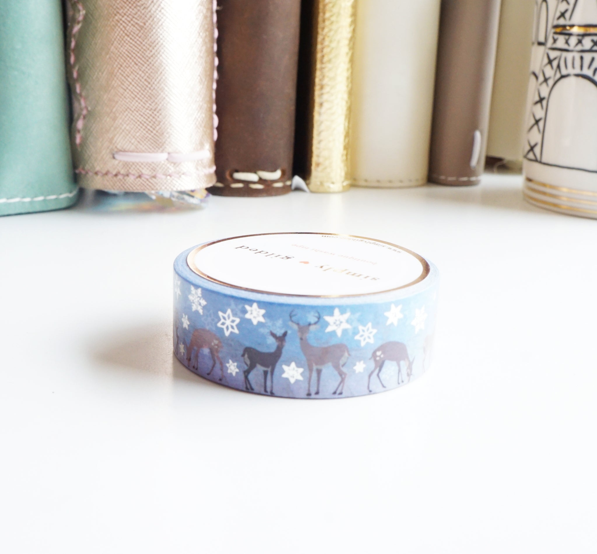 SNOW DEER 3.0 and silver foil washi tape - 15mm