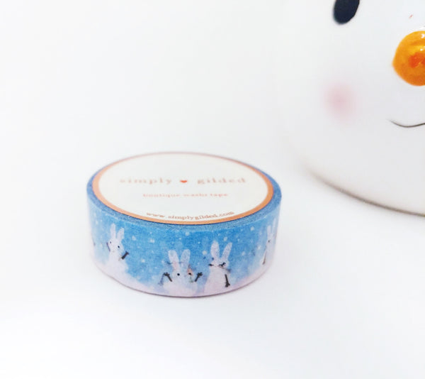 WASHI TAPE 15mm - SNOW BUNNY (November 8 Holiday Release)