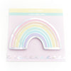 NOTEPAD - SOFT Rainbow sticky notepad + silver holographic foil