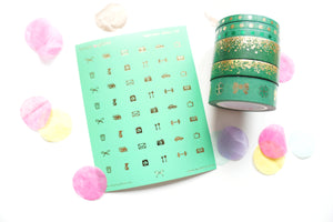 BUNDLE - Lucky (3 washi,1 set washi,1 basic icons)