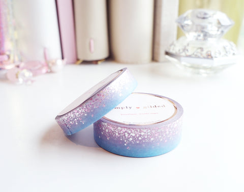 WASHI TAPE 15/10mm set - STARDUST DAYBREAK + holo/pink foil (Mystery Monday)